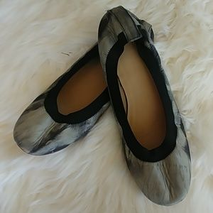Topshop marbled gray ballet stretchy flats size 9